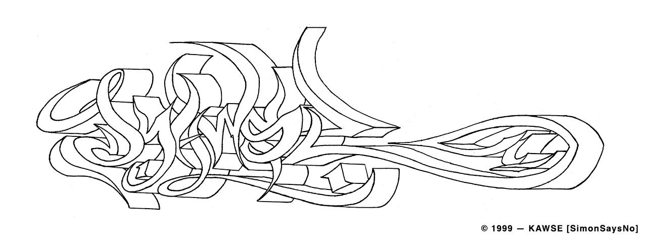 KAWSE 1999 — MY WAY [Sketch]