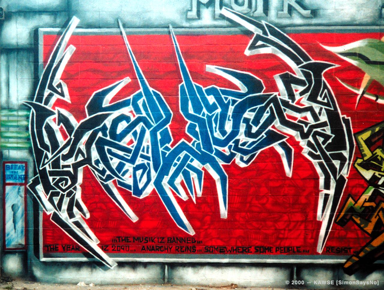 KAWSE 2000 —  WILD STYLER [Graffiti]