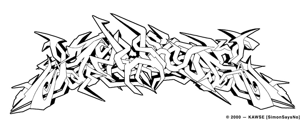 KAWSE 2000 —  IMPERIAL WILD STYLE [Sketch]