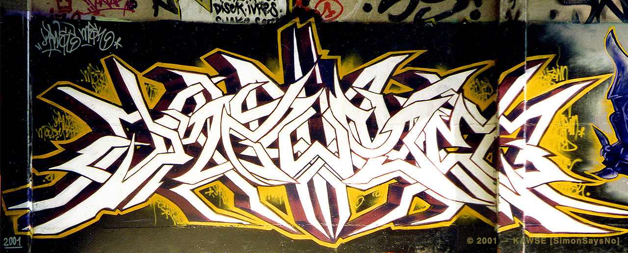 KAWSE 2001 —  LIGHT ON WILD STYLE [Graffiti]
