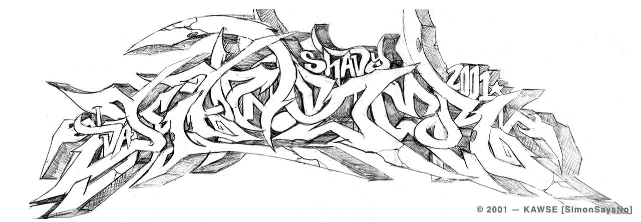 KAWSE 2001 —  SHADY [Sketch]