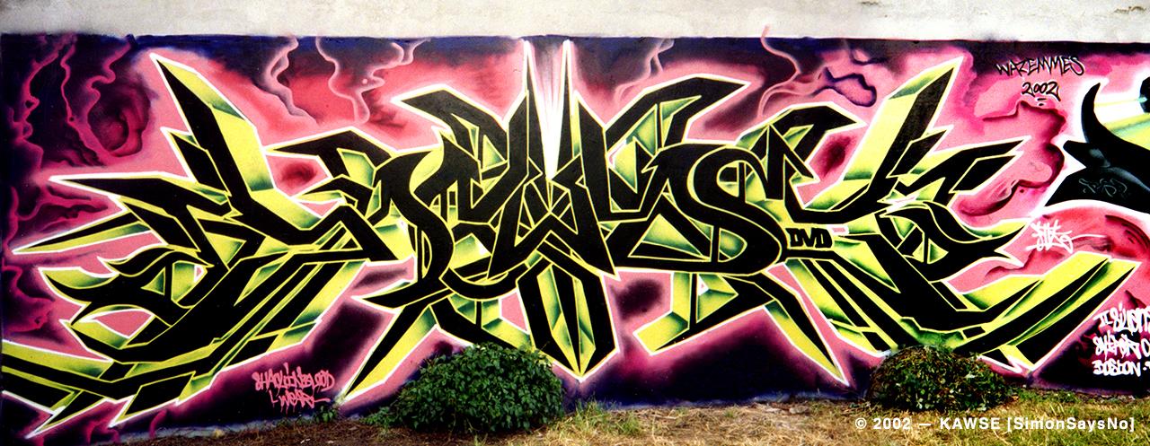 KAWSE 2002 — SHADOW & LIGHT WILD STYLE [Graffiti]