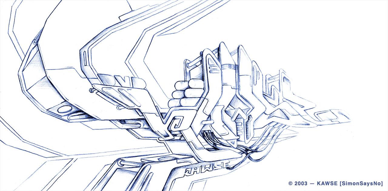 KAWSE 2003 —  ELECTRONIC VECTORS [Sketch]