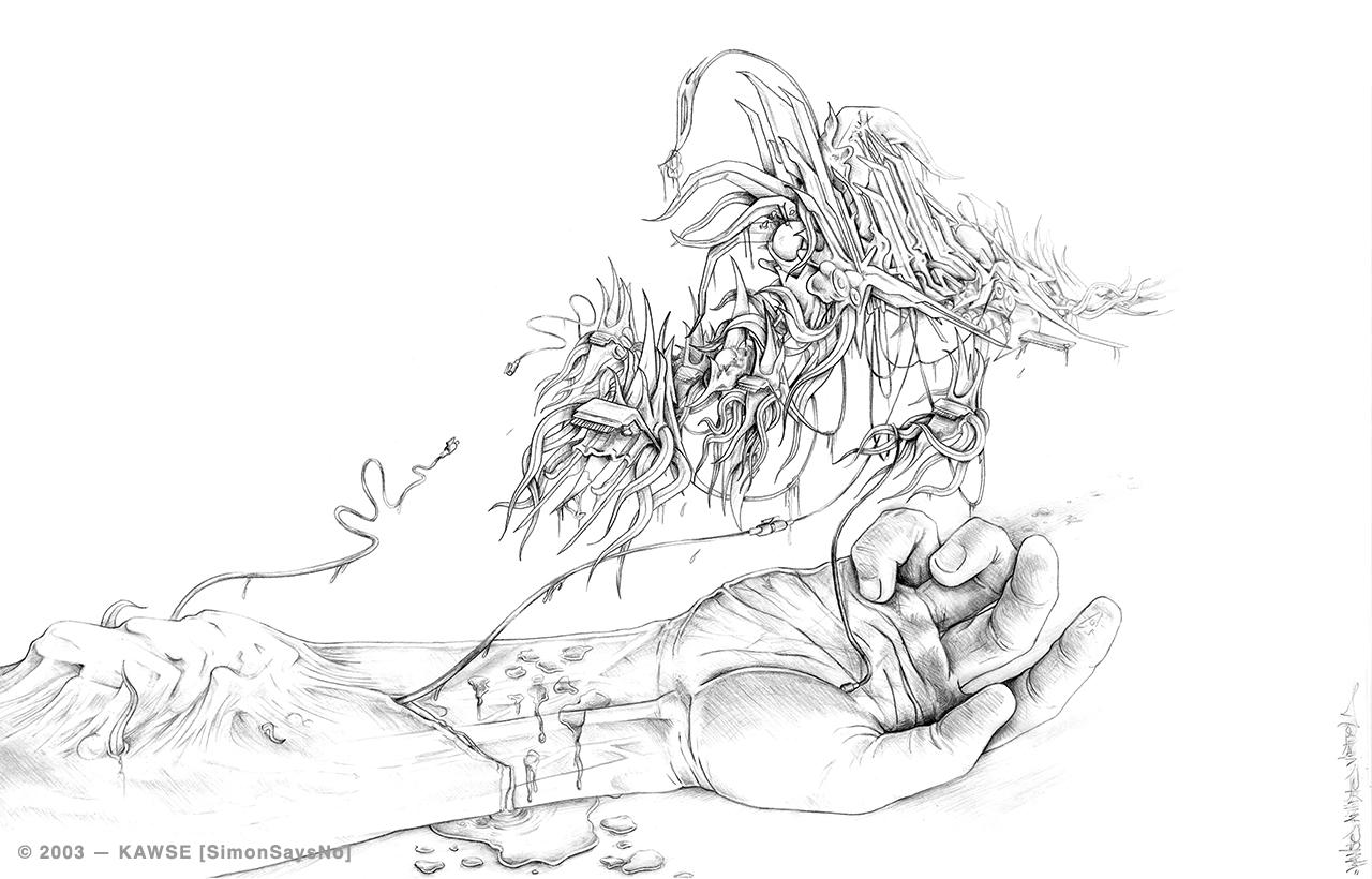 KAWSE 2003 — IN  THE SKIN [Sketch]