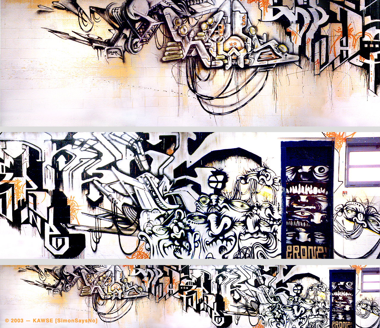 KAWSE 2003 — NEW GRAPHIC WAY with MERCUROCROM Collective [Wall]