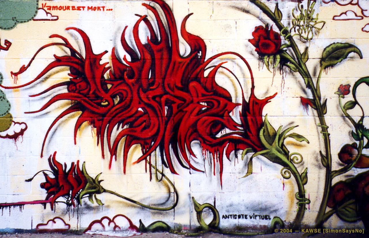 KAWSE 2004 – L'AMOUR EST MORT [Graffi]