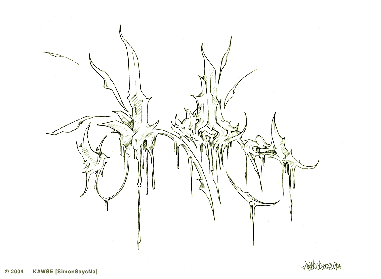 KAWSE 2004 – BE UNIQUE  [Sketch]