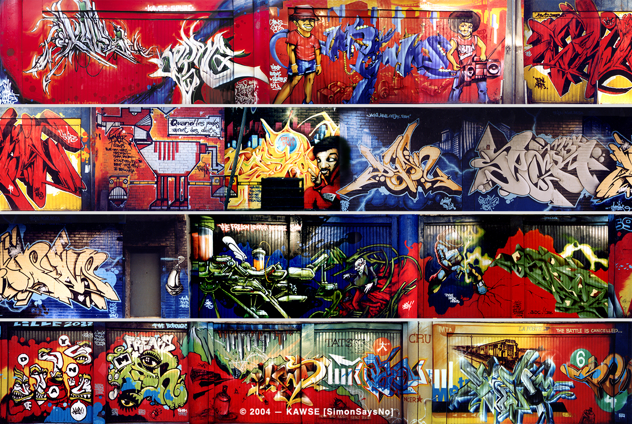 KAWSE 2004 – LILLE2004 JAM with TATS CREW and Local Writers [Wall]