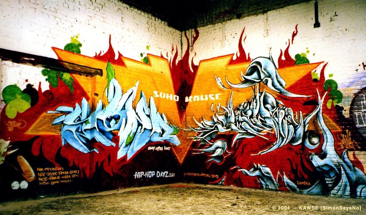 KAWSE 2004 – DVD WARRIORZ with SOHO [Wall]
