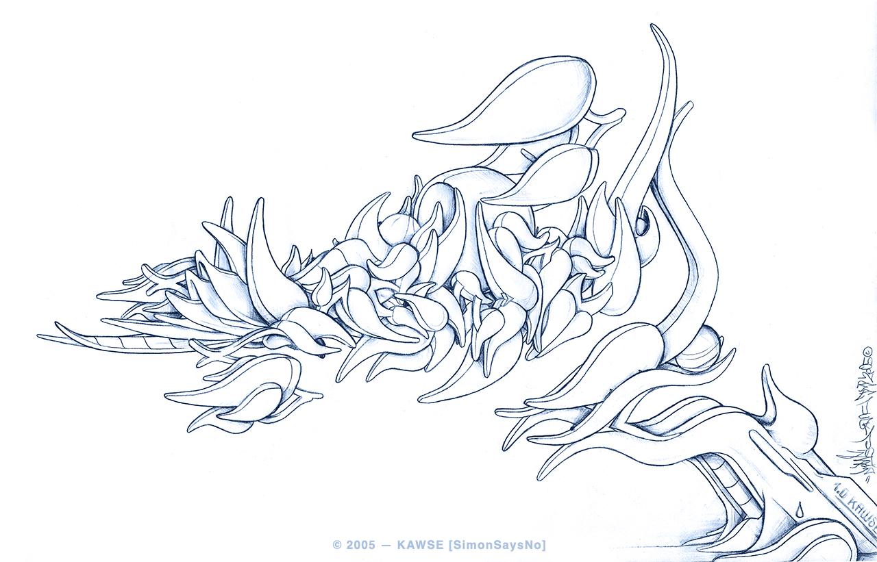 KAWSE 2005 – BIONIC DROP [Sketch]