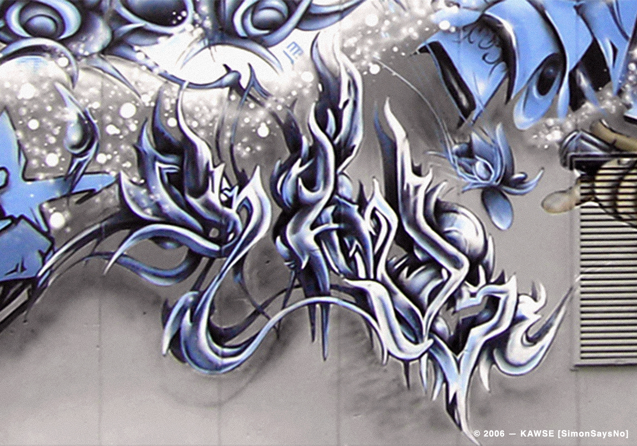 KAWSE 2006 – BLUE WAVE  [Graffiti]