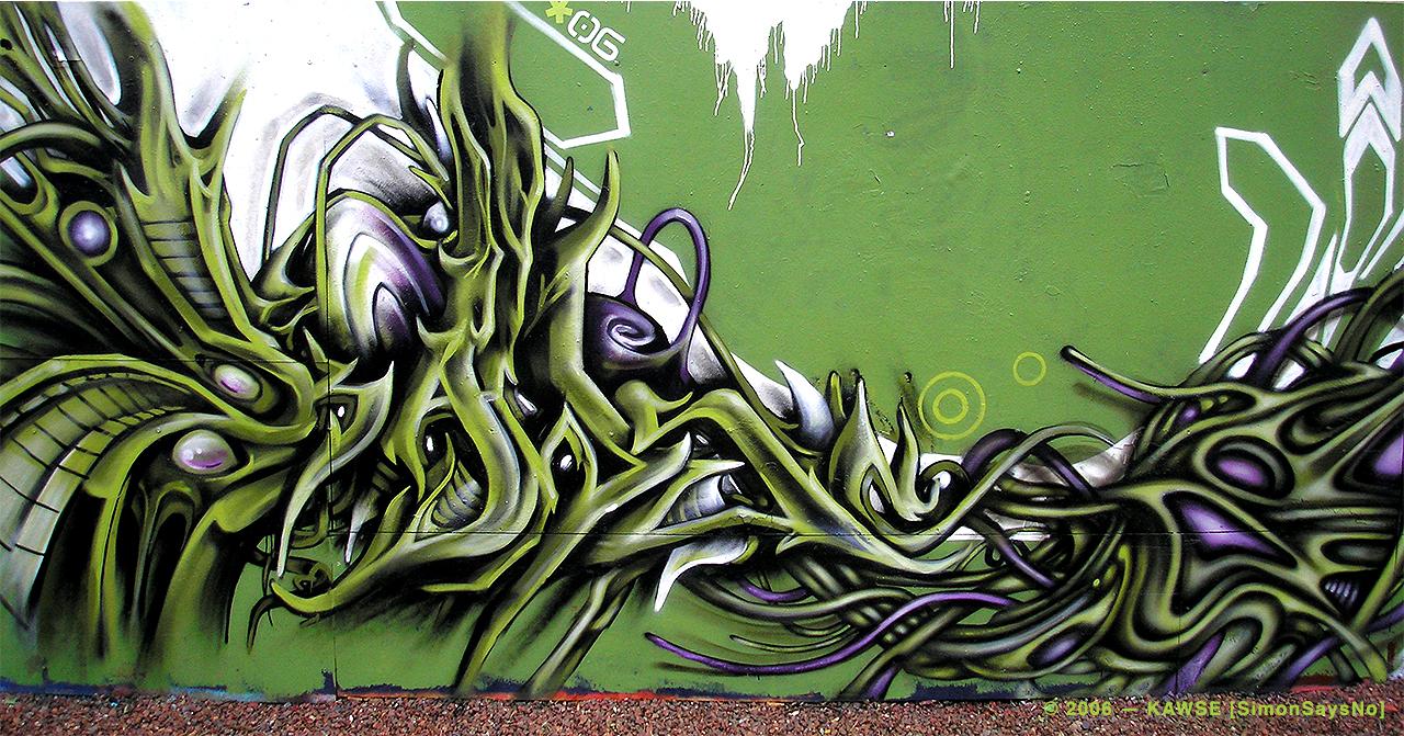 KAWSE 2006 — GREEN MOJITO [Graffiti]