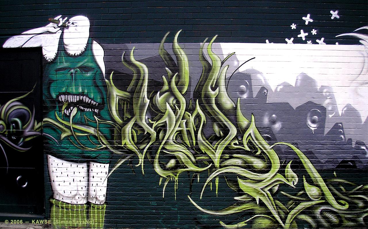 KAWSE 2007 —  ALIEN CALLIGRAPHY  [Graffiti]