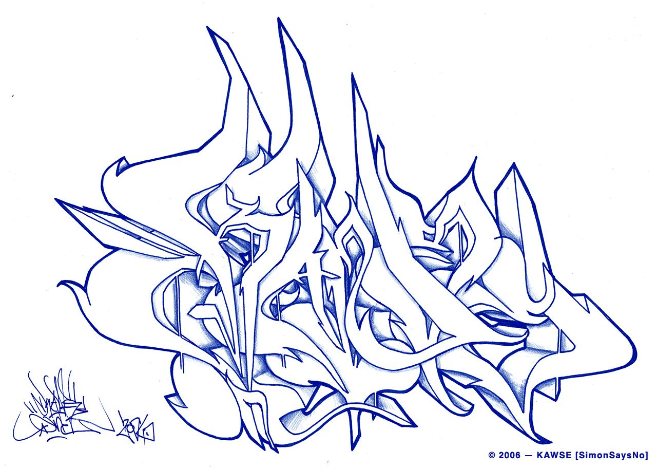 KAWSE 2006 — PERFECT LETTERS [Sketch]
