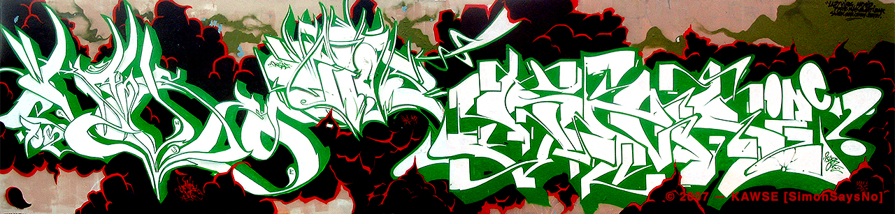 KAWSE 2007 — WHITE+GREEN with ISHAM and EIAS  [Wall]