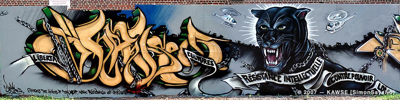 KAWSE 2007 — RESISTANCE INTELLECTUELLE [Graffiti]