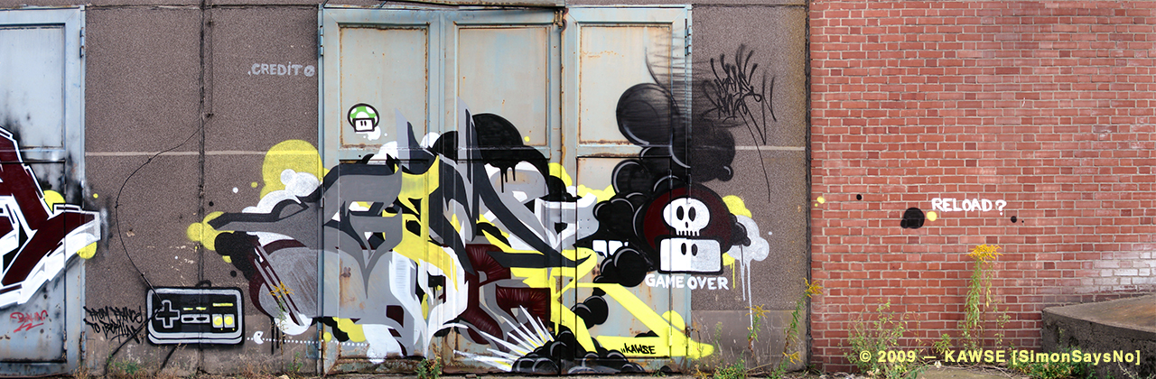 KAWSE 2009 — GAME OVER [Graffiti]