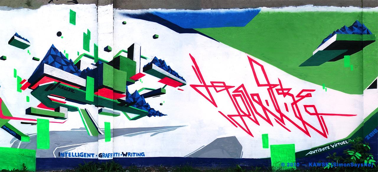 KAWSE 2010 — INTELLIGENT GRAFFITI WALL with DRUM [Wall]