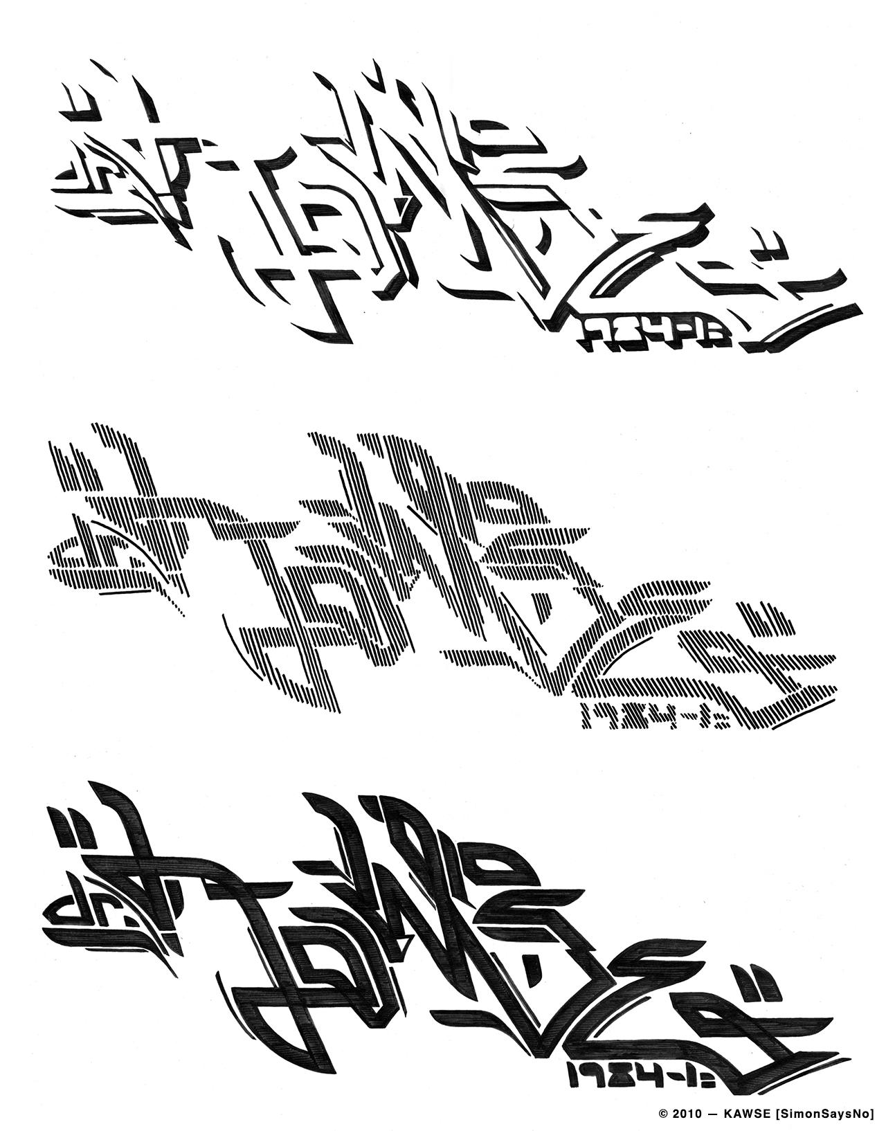 KAWSE 2010 — 1984-1= [3 Sketches]