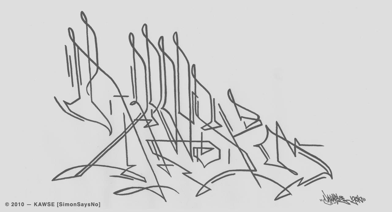 KAWSE 2010 — LINES [Sketch]