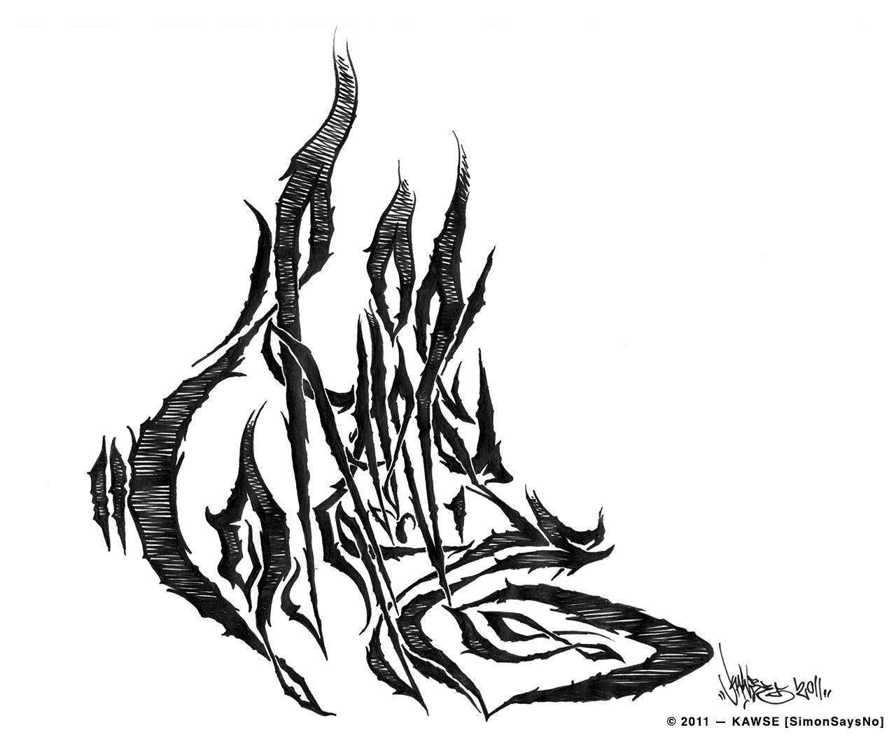 KAWSE 2011  — BURN OUT [Sketch]