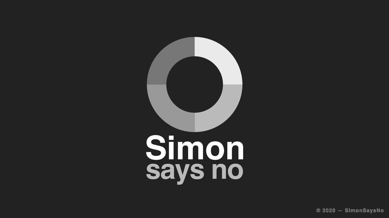 SIMONSAYSNO 2020 —  CREATIVE IDENTITY